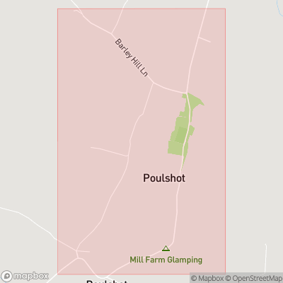 Map showing extent of Poulshot as bounding box