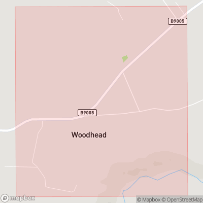Map showing extent of Woodhead as bounding box