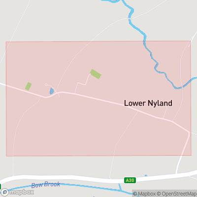 Map showing extent of Lower Nyland as bounding box