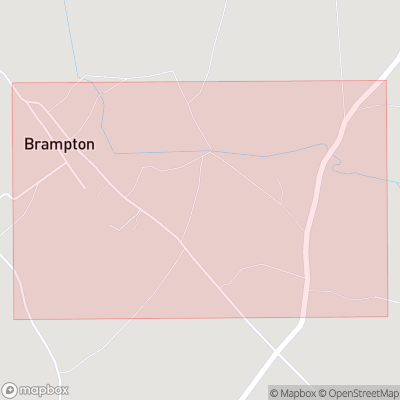 Map showing extent of Brampton as bounding box