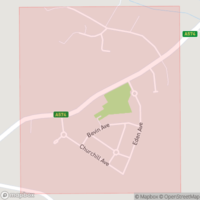 Map showing extent of Fowley Common as bounding box