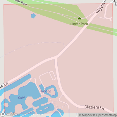 Map showing extent of Wigshaw as bounding box