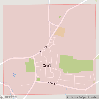 Map showing extent of Croft as bounding box