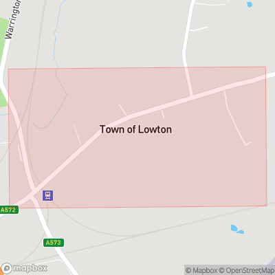 Map showing extent of Town of Lowton as bounding box