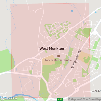 Map showing extent of Monkton Heathfield as bounding box