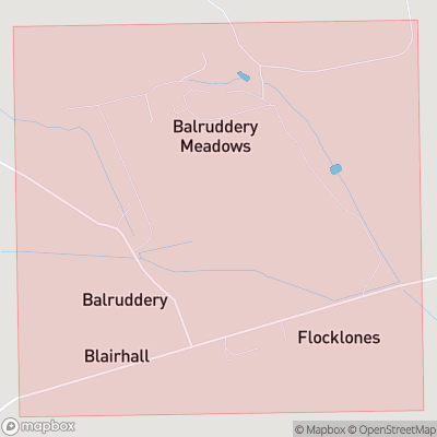 Map showing extent of Balruddery as bounding box