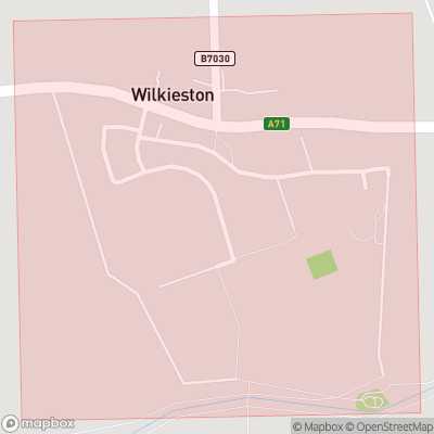 Map showing extent of Linburn as bounding box