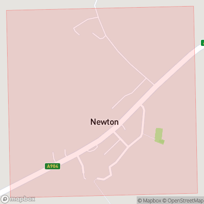 Map showing extent of Newton as bounding box