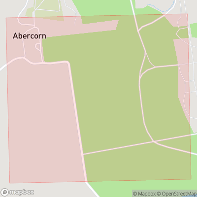 Map showing extent of Abercorn as bounding box