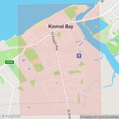 Map showing extent of Kinmel Bay as bounding box