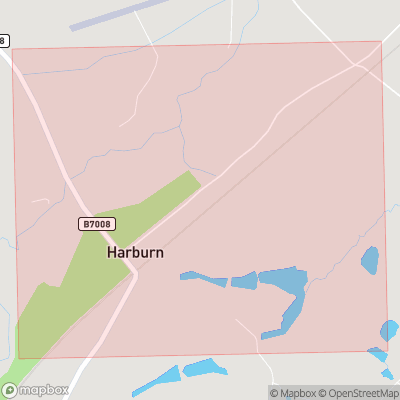 Map showing extent of Harburn as bounding box