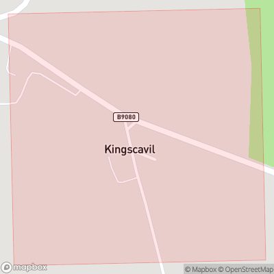 Map showing extent of Kingscavil as bounding box