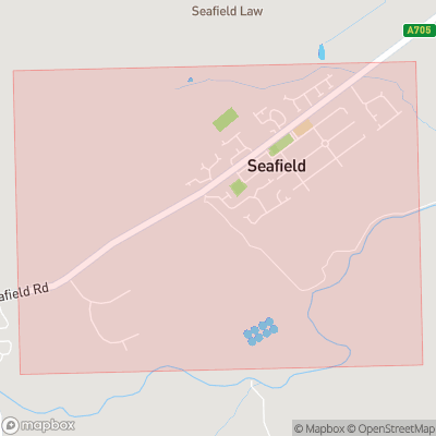 Map showing extent of Seafield as bounding box