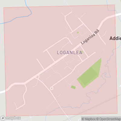 Map showing extent of Loganlea as bounding box