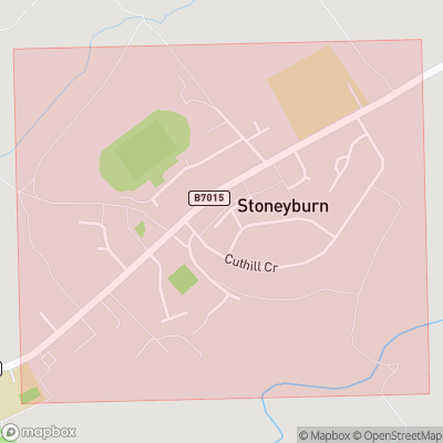 Map showing extent of Stoneyburn as bounding box