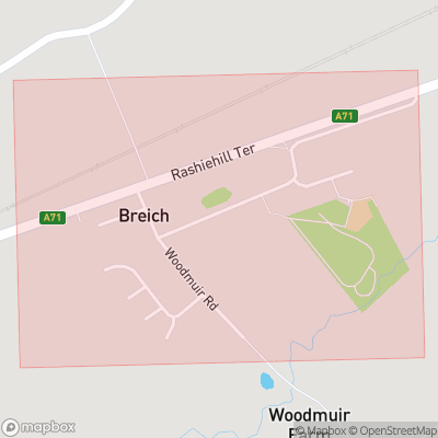 Map showing extent of Breich as bounding box