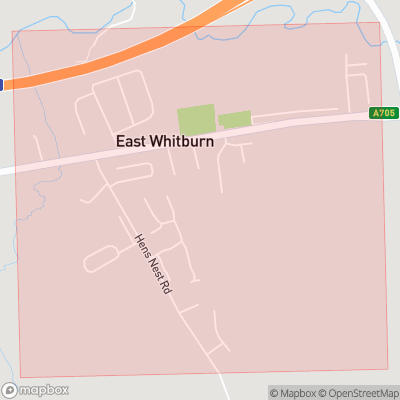 Map showing extent of East Whitburn as bounding box