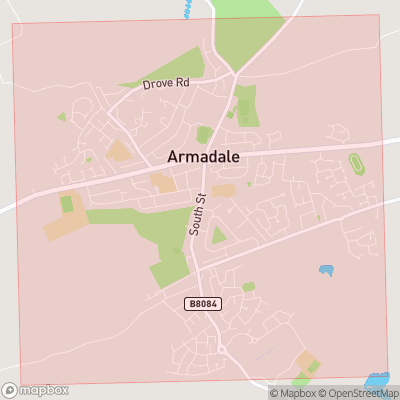 Map showing extent of Armadale as bounding box