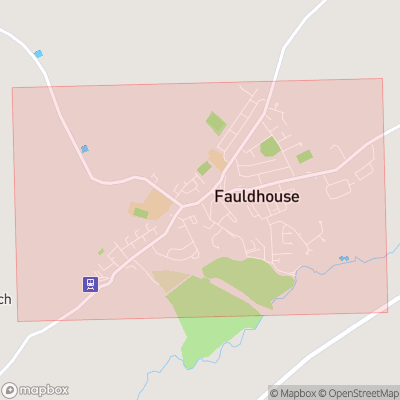Map showing extent of Fauldhouse as bounding box