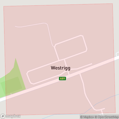 Map showing extent of Westrigg as bounding box