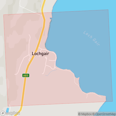 Map showing extent of Lochgair as bounding box