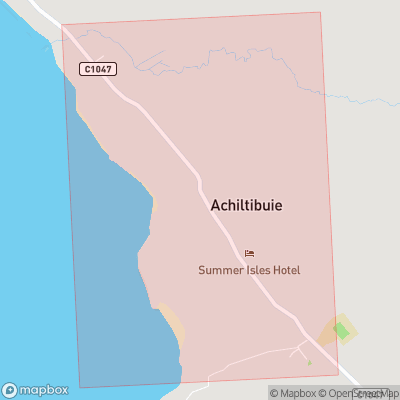 Map showing extent of Achiltibuie as bounding box