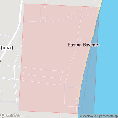 Map showing extent of Easton Bavents as bounding box