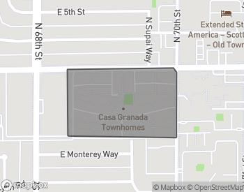Map of Casa Granada Townhomes