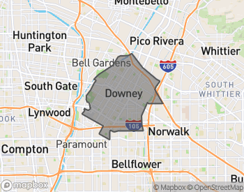 Map of Downey