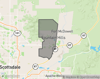 Map of Fountain Hills Homes for Sale