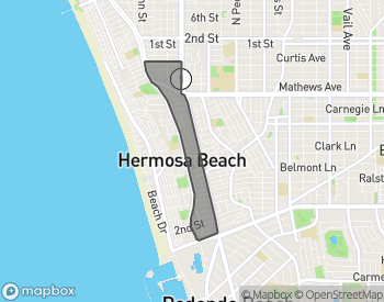 Map of Hermosa Beach Valley