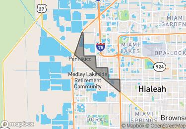 Map of Hialeah Gardens