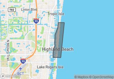 Map of Highland Beach
