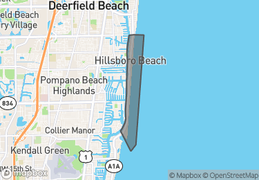 Map of Hillsboro Beach
