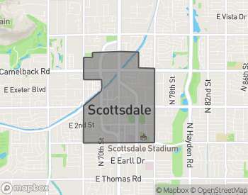Map of Homes  For Sale In Downtown Scottsdale