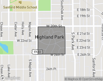 Map of Homes For Sale In Highland Park