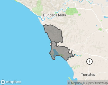 Map of Homes For Sale in Bodega Bay