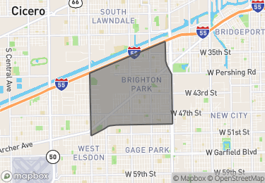 Map of Homes For Sale in Brighton Park