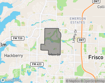 Map of Homes For Sale in Trails of Frisco