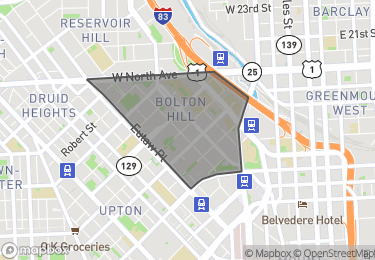 Map of Homes for Sale in Bolton Hill