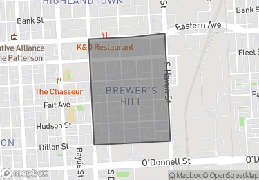 Map of Homes for Sale in Brewer's Hill