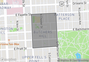Map of Homes for Sale in Butcher's Hill