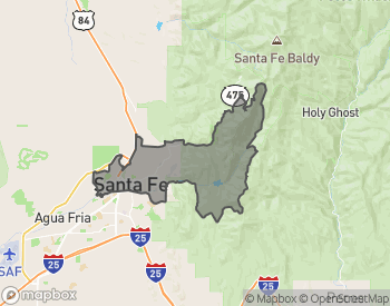 Map of Homes for Sale in Downtown Santa Fe
