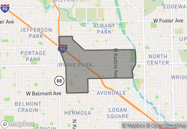 Map of Homes for Sale in Irving Park