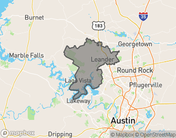 Map of Homes for Sale in Leander