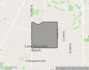 Map of Homes for Sale in Lone Mountain