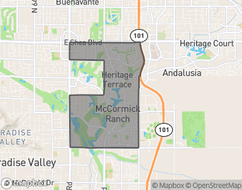 Map of Homes for Sale in McCormick Ranch