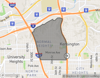 Map of Homes for Sale in Normal Heights
