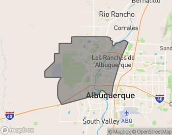 Map of Homes for Sale in Northwest Albuquerque