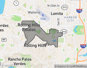 Map of Homes for Sale in Palos Verdes Drive North